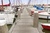 Jetty with sailingboats — Stock Photo
