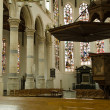 Interior of Old Church Delft - Stock Photo