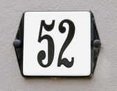 House number 52 — Stock Photo