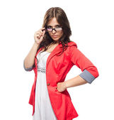 Young lady in glasses — Stock Photo