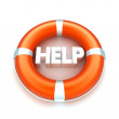 Lifebuoy witn help text — Stock Photo
