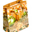 Shopping bags with christmas picture — Stock Photo
