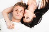 Happy young couple relaxing together — Stock Photo