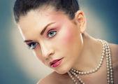 красивая дама в студии 13 — Стоковое фото