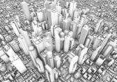 Město vykreslení — Stock fotografie