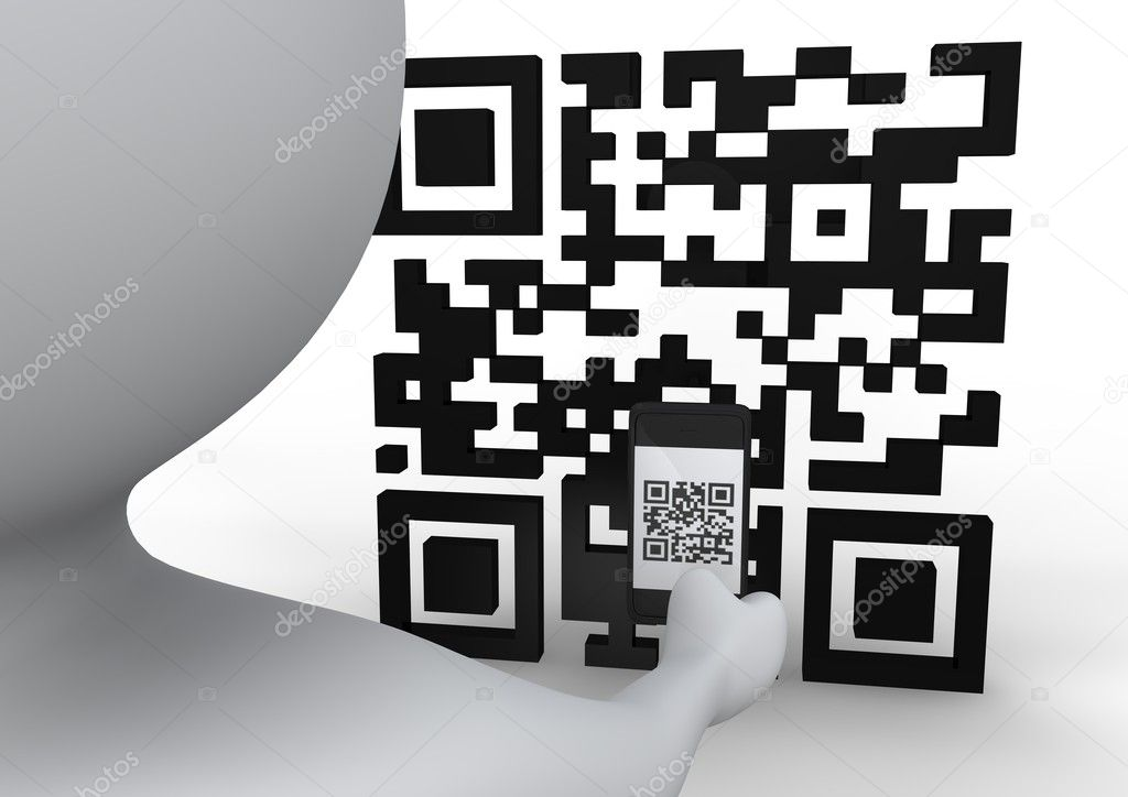 Man taking a QR picture — Stock Photo #11331047