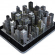 Stock Photo: Tablet city