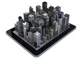 Tablet city — Stock Photo