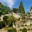 Henri Le Sidaner medieval garden - Panorama - Stock Photo