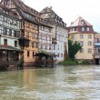 Historic houses in Strasbourg - Stock Photo