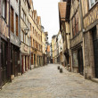 Old street in the Rouen - Stock Photo