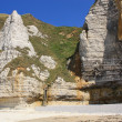The cliffs of Etretat - Stock Photo