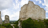 Richard Lion Heart Castle ruins - Panorama — Stock Photo