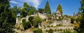 Henri Le Sidaner medieval garden - Panorama — Stock Photo