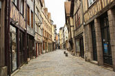 Old street in the Rouen — Stock Photo