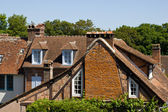 The roofs of Gerberoy french village — Stock Photo