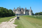 Spending quality time at Chambord Castle — Stock Photo