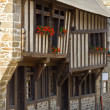 Dinan old town center — Stock Photo