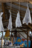 Drying salted fishes — Stock Photo