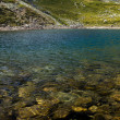 Iezer Glacier Lake in the Romanian Carpathians — Stock Photo