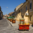 Street of Brasov old town center — Stock Photo