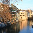 Strasbourg canal in winter — Stock Photo
