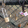 Lovers padlocks - Pont des Artes, Paris — Stock Photo