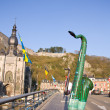 dinant giant saxophones exhibitions — Stock Photo