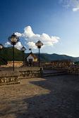 Terraço da fortaleza - brasov — Foto Stock