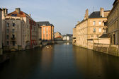 Metz river scene, France — Stock Photo