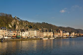 Dinant - charming town on the Meuse river — Stock Photo