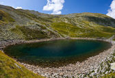 Iezer Glacier Lake - Panorama — Stock Photo