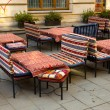 Terrace in the Bucharest historic center — Stock Photo