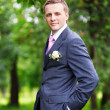 Royalty-Free Stock Photo: Portrait of the groom at wedding walk