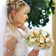 Stock Photo: Elegant bride in wedding day