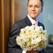 Groom before meeting with bride — Stock Photo