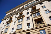 Residential building in central Moscow — Stock Photo