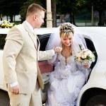 Happy bride and groom — Stock Photo #10912370