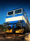 Train on railway — Stock fotografie