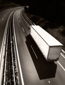 Truck on the road — Foto Stock