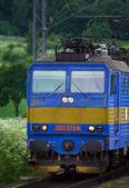 Träna på järnvägen — Stockfoto