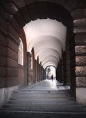 Long arcade in Prague — Stock Photo