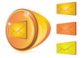 Abstract email button — Stock Vector