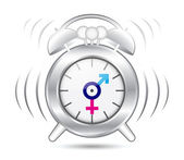 Clock gender symbol — Stock Vector