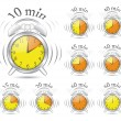 Vettoriale Stock : Timer clock set