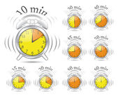 Timer clock set — Stockvector