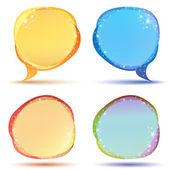 Speech bubble with sparkle — Stock Vector