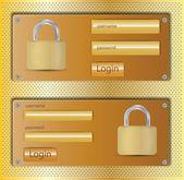 Login web design element — Stock Vector