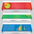 Infographic web design element — Stock Vector