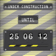 Under construction countdown timer with background — Stock Vector